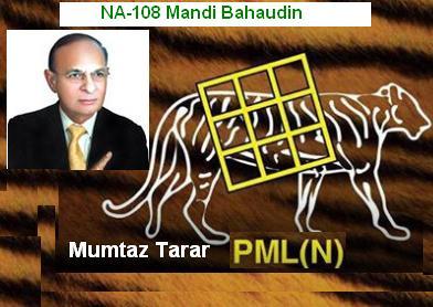 NA 108 Mandi Bahauddin Bye Election Result 2015