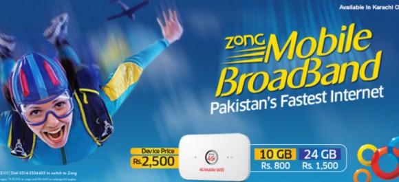 Zong 4G MiFi Broadband
