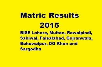 Matric Results 2015