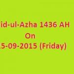 Eid-ul-Azha 1436 AH 25-9-2015