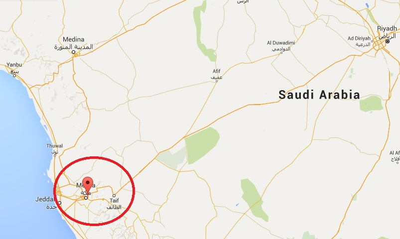 mecca location on map - Loran