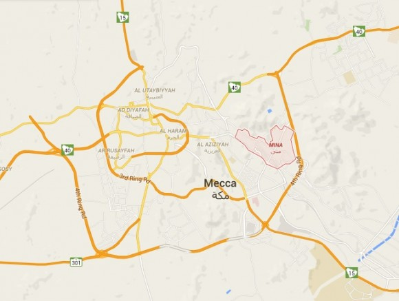Mina Makka Location Map