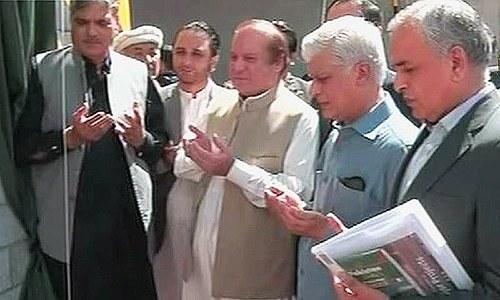 Nawaz Sharif Inauguration of Attabad Tunnel and Bridges