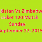 Pakistan Zimbabwe Cricket Match T20 Live
