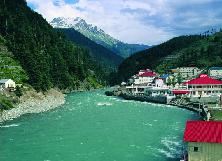 River Swat Near Kalam Valley Swat District