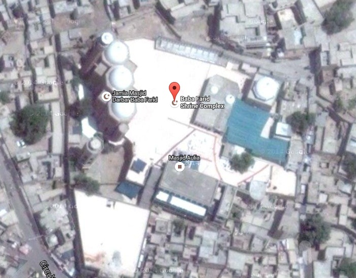 Baba Farid Shrine Complex Pakpattan - Satellite Map View