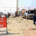 Lahore Metro Orange Line Train Work Under Progress