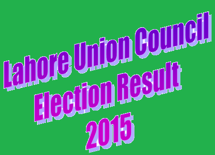 Lahore UC Election Result 2015