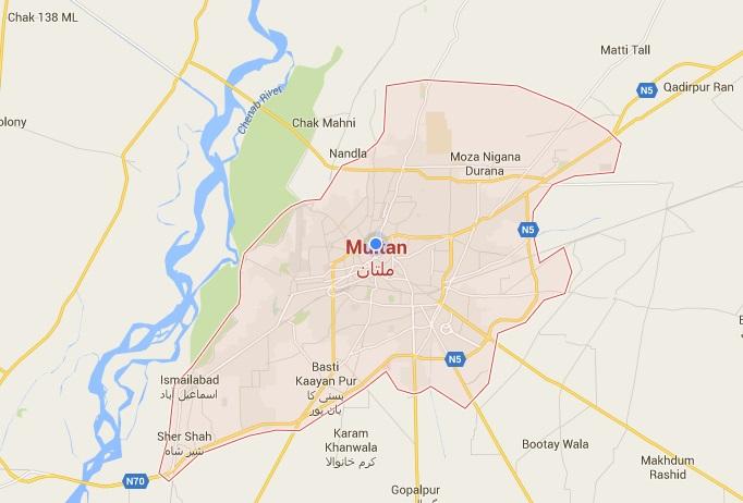 Multan City Map