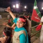PTI Girls in Samanabad Lahore Jalsa