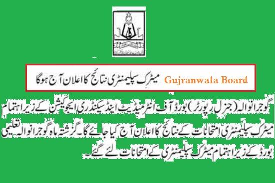 BISE Gujranwala Matric Supply Result 2015