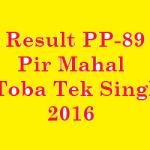 Result PP 89 Pir Mahal 2016