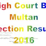 High Court Bar Election Result 2016