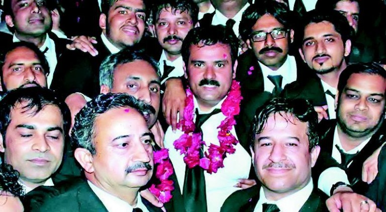 Lahore Highcourt Bar Association New Elected President Rana Zia Abdul Rehman of Hamid Khan Group
