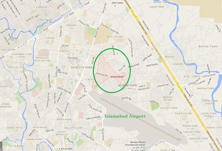 Mumtaz Qadri House Sadiqabad Rawalpindi - Location Map