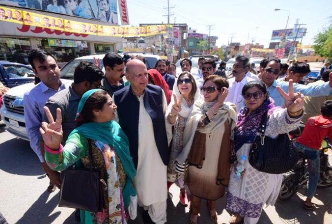 Ch Sarwar Visiting NA 101 Wazirabad Polling Stations