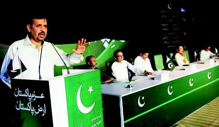 Mustafa Kamal Annoucing his party Name in Karachi - Anis Qaimkhawani and other also sitting - Pak Sirzameen party