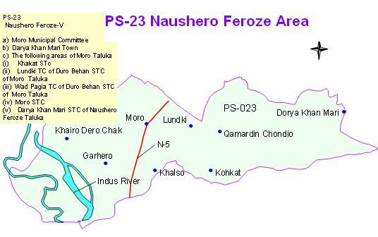 PS 23 Naushero feroze Area Map