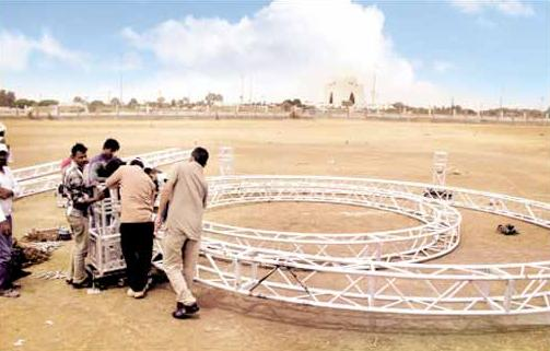 Bagh e Jinnah Ground Karachi - Preparations for Pak Sirzameen Party Jalsa 24 April 2016