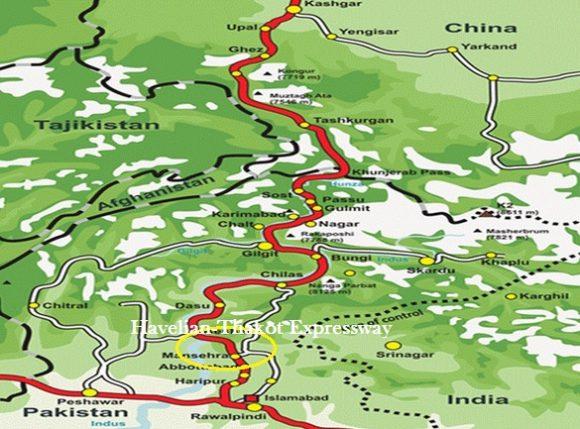 Havelian-Mansehra-Thakot Expressway Route Section