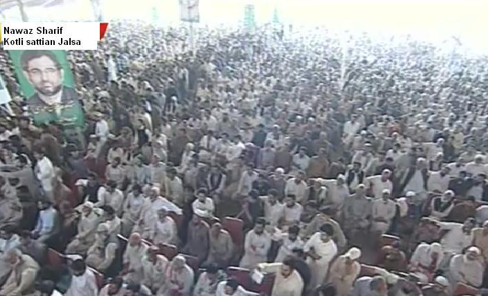 Nawaz Sharif Kotli Sattian Jalsa - Raja Ashfaq Sarwar Address