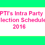 PTI Intra Party Election Schedule 2016