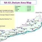 NA 63 Jhelum Area Map - city, Cantt, Pind Dadan Khan, Darapur