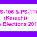 PS 106 and PS 117 Karachi By Election Results