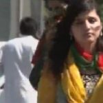 PTI Girl coming in Lahore Jalsa e Aam at Mall Road