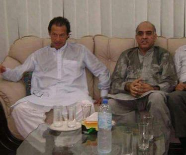 Ch Nazir Ahmad Jutt meets with Imran Khan in Bani Gala Islamabad