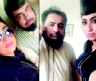 Mufti Abdul Qawi Selfies with Actor Qandeel Baloch on Internet Facebook