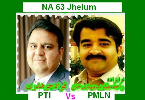PMLN VS PTI in NA 63 Jhelum - Matloob Vs Fawad