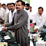PP 232 Gaggo Mandi - Ex MPA Yousuf Kaselia submitting nomination papers in election commission office Vehari on 10-6-2016