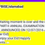 FBSE Islamabad SSC-Matric Result 2016