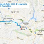 PTI Ihtasab Rally 2016 - Peshawar to  Attock Route Map