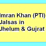 Imran Khan (PTI) Jalsa Jhelum and Gujrat