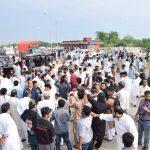 Imran Khan Reach at Lilla Interchange Motorway