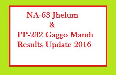 NA 63 Jhelum PP 232 Gaggo Mandi Vehari Result Update