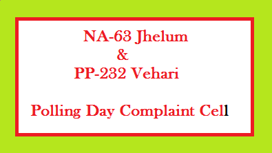 NA 63 and PP 232 Polling Complaint Telephone Numbers