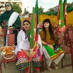 PTI's Girls & Women in Karachi Nishtar Park Jalsa (Pictures Gallery)