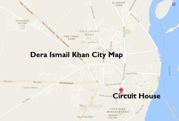 Dera Ismail Khan City Map