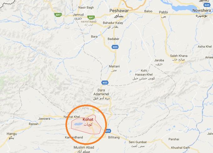kohat-city-location-map-in-kpk-province-near-dara-adamkhel
