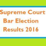 Result Annual Election Supreme Court Bar Association 2016
