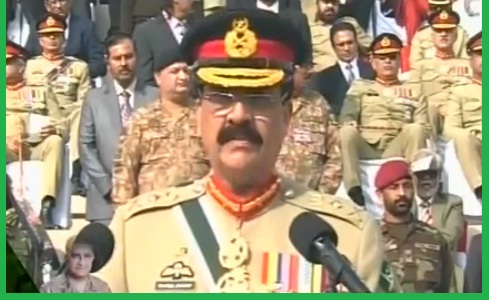 Army General Raheel Sharif Addressing Farewell Ceremony - Change of Baton/Stick