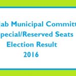 Punjab Municipal Committees Special/Reserved Seats Election Result Today on 17-11-2016