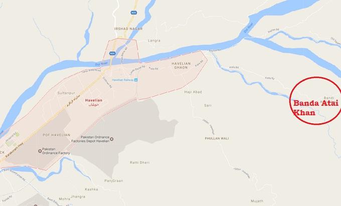 Location Map Union Council Banda Atai Khan tehsil Havelian District Abbottabad