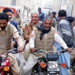 Shah Mehmood Round on Motor Bike of PP 195 Multan - MPA Javed Ansari also with him