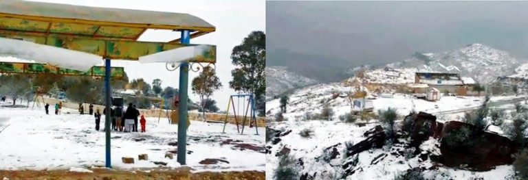 Snowfall in Fort Munro DG Khan after 8 Years of gap