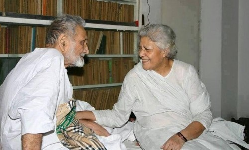 Bano Qudsia With her Husband Ashfaq Ahmad - Historical Pic