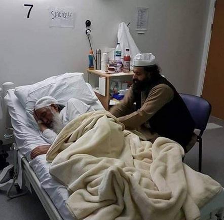 Pir Alauddin Siddiqui in Hospital few days ago
